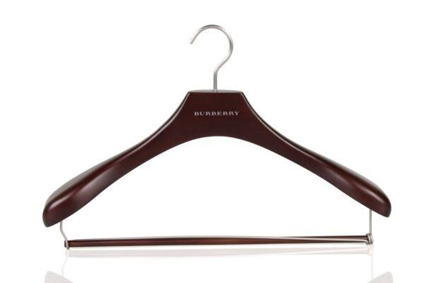 wooden coat hanger with bar