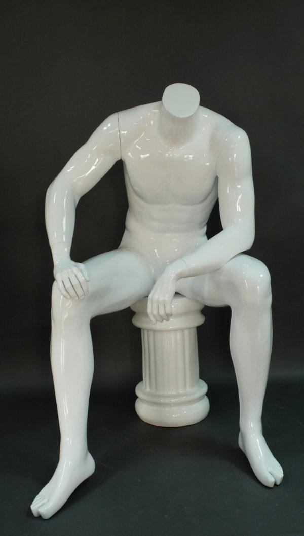 sitting headless male mannequin