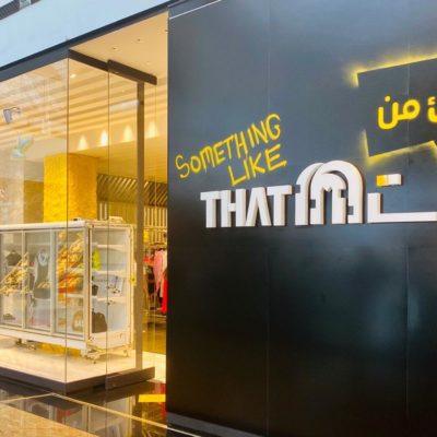 Front of Something Like That concept store in Mall of the Emirates