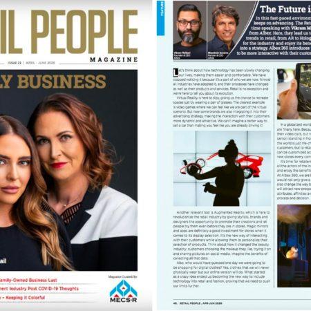 Retail People magazine spread