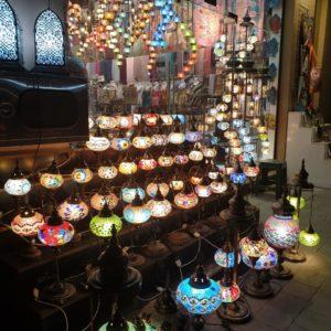 Colorful lanterns in Dubai old souk