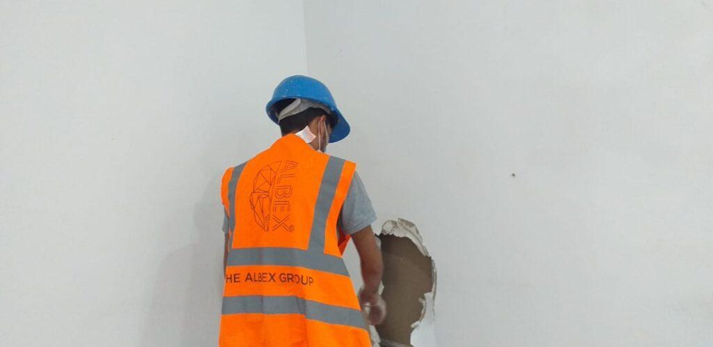 Albex work on site